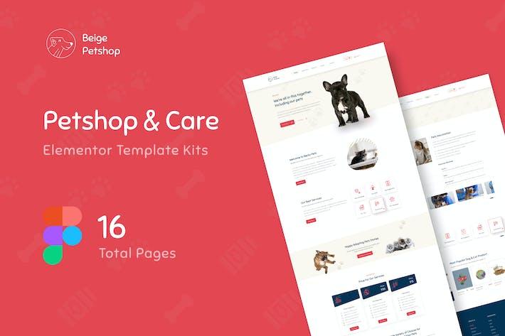 Beige - Pet Shop Website Design Figma Template