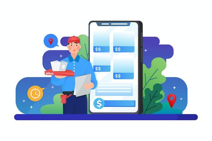 Thumbnail for Online-Lebensmittelbestellung Paketlieferservice