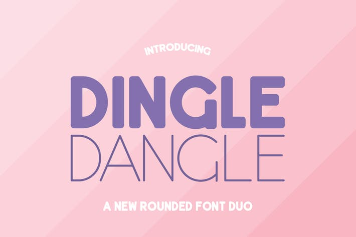 Thumbnail for Dingle Dangle Font Duo