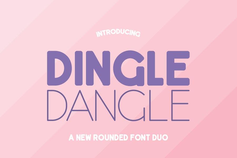 Dingle Dangle Font Duo Negro