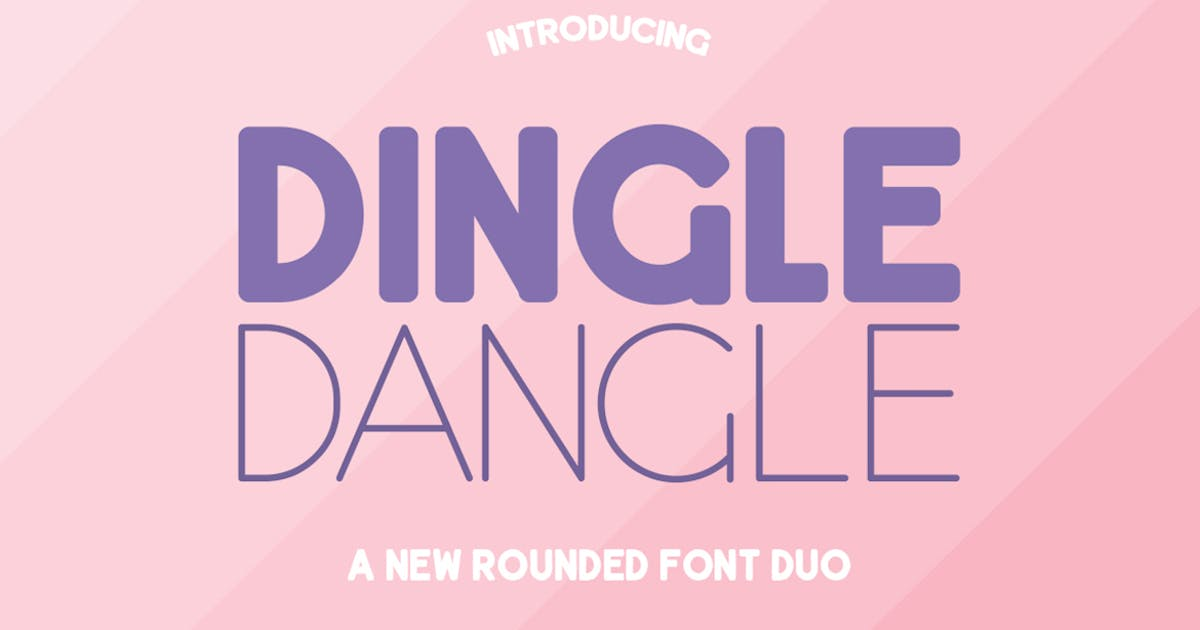 Download Dingle Dangle Font Duo by maroonbaboon