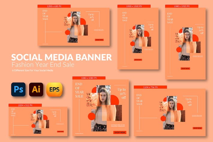 Thumbnail for Fashion Girls – Social Media Banner Template