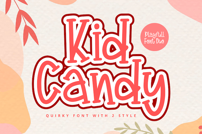 Thumbnail for Kid Candy Duo Font