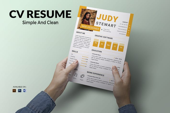Thumbnail for CV Resume Modern