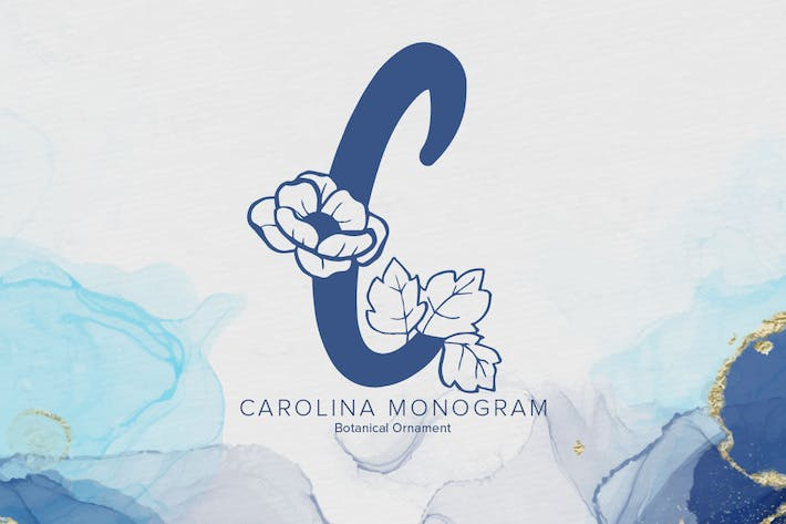 Thumbnail for Carolina Monogram Font