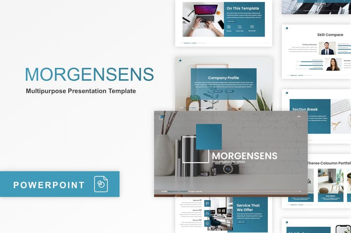 Thumbnail for Morgensens - Multipurpose PowerPoint Template