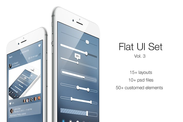 Thumbnail for iOS Flat UI Set Vol. 3