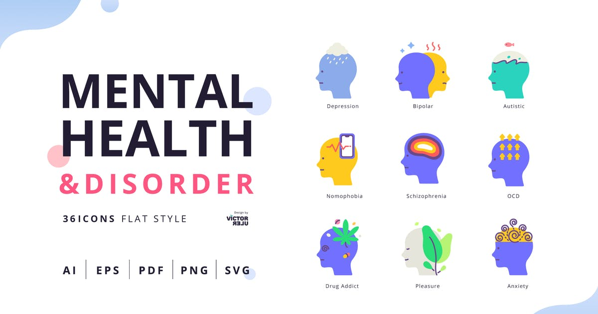 Download Mental Health&Disorder Flat Style Pack by Victoruler