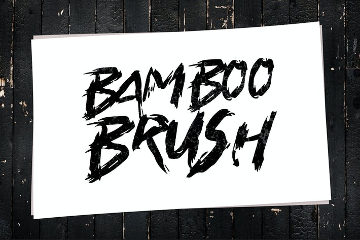 Thumbnail for Bamboo Brush - Hand written Typeface