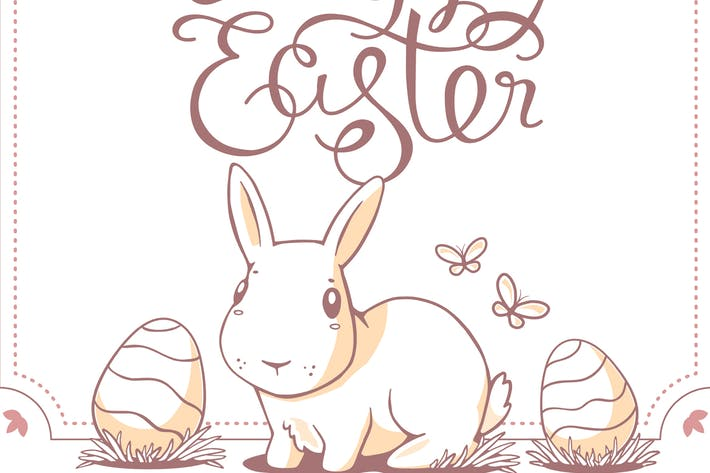 Thumbnail for Collection of Happy Easter greeting cards