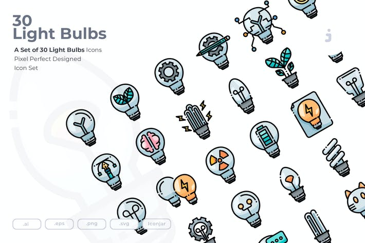 Thumbnail for 30 Light Bulbs Icons