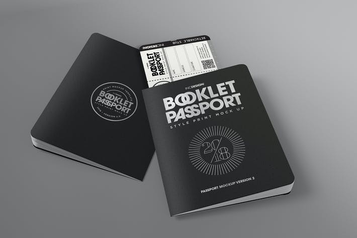 Thumbnail for Passport Booklet Mockup version 2