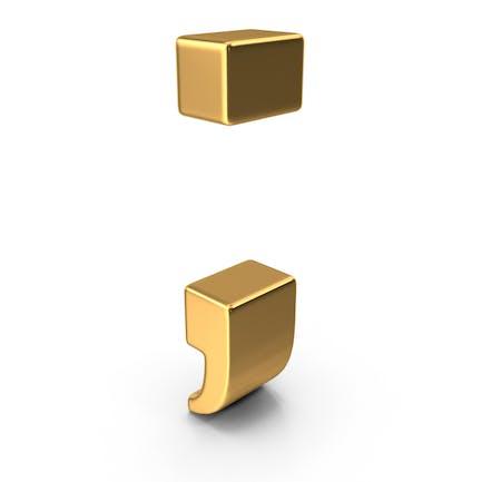 Gold Semicolon Symbol