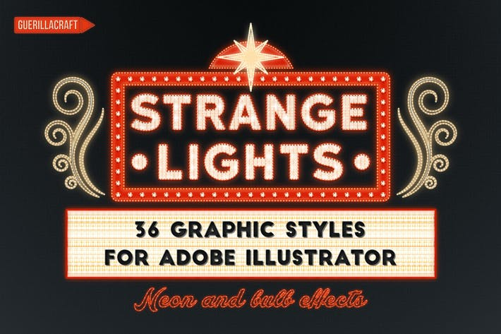 Thumbnail for Strange Lights for Adobe Illustrator