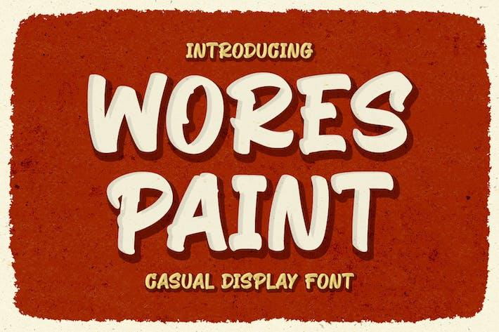 Thumbnail for Wores Paint - Police d'affichage décontractée
