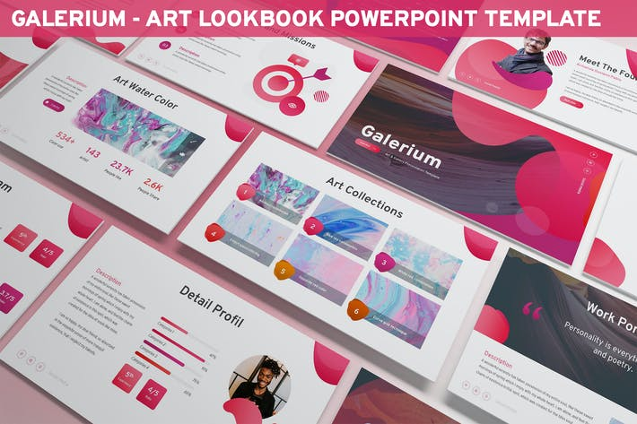 Thumbnail for Galerium - Art Lookbook Powerpoint Template