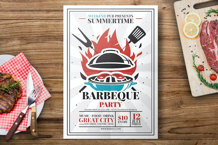 Thumbnail for Barbecue Grill Flyer Template