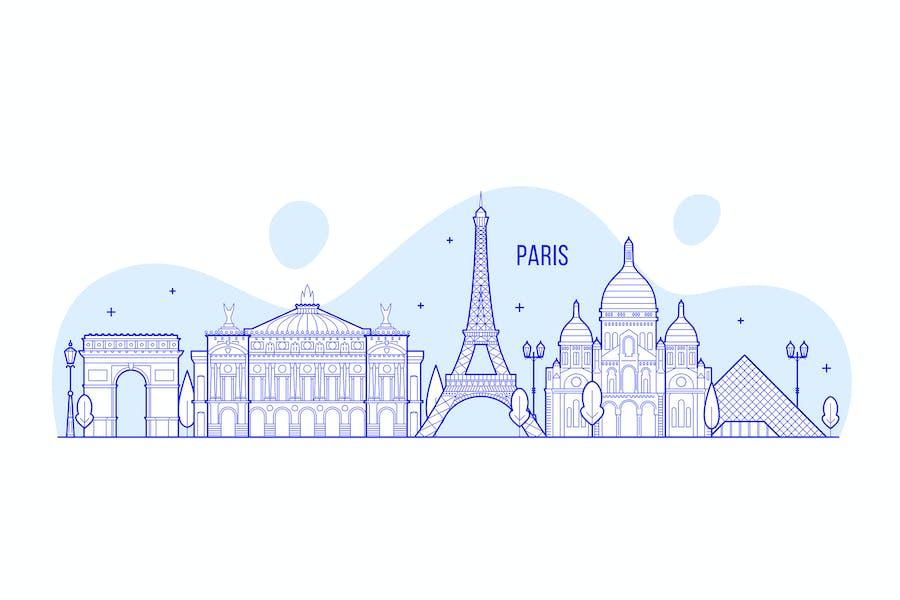 Paris skyline, Frankreich