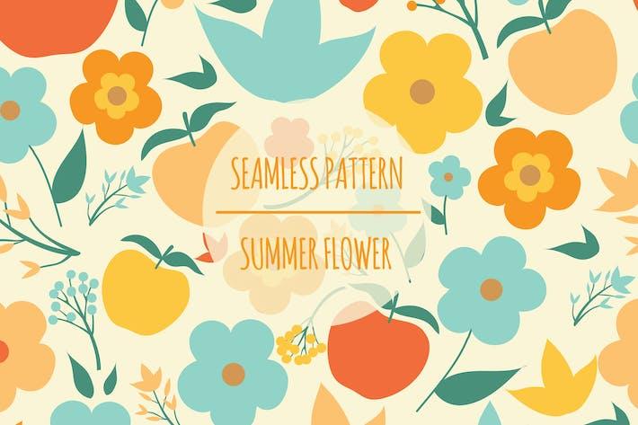 Thumbnail for Summer Flower – Seamless Pattern