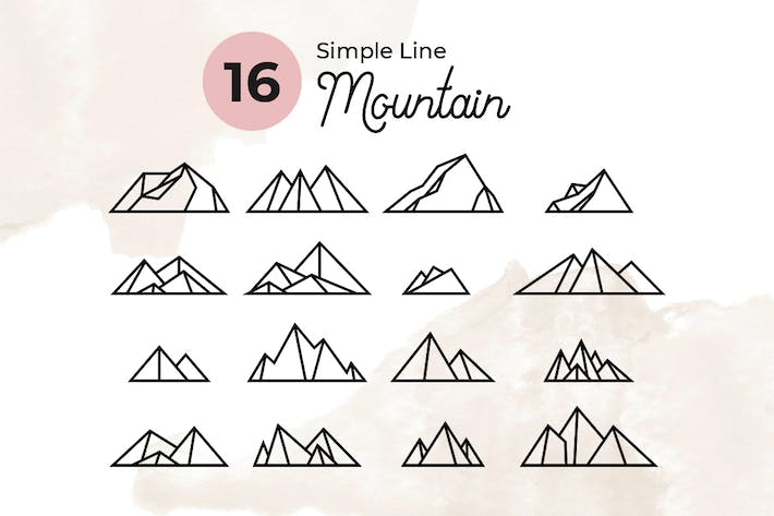 Thumbnail for 16 Simple Line Mountain