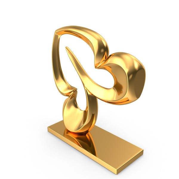 Thumbnail for Abstrakte Figur Gold
