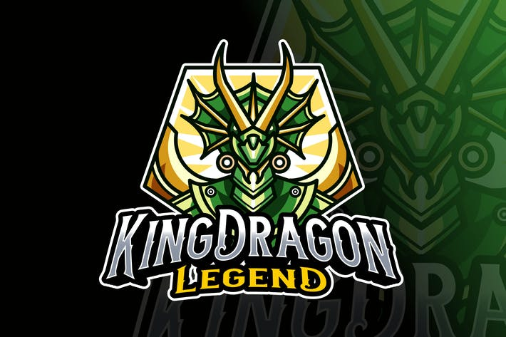 Thumbnail for King Dragon Logo Template