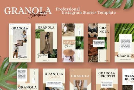 Granola Biscotti Stories Vorlage