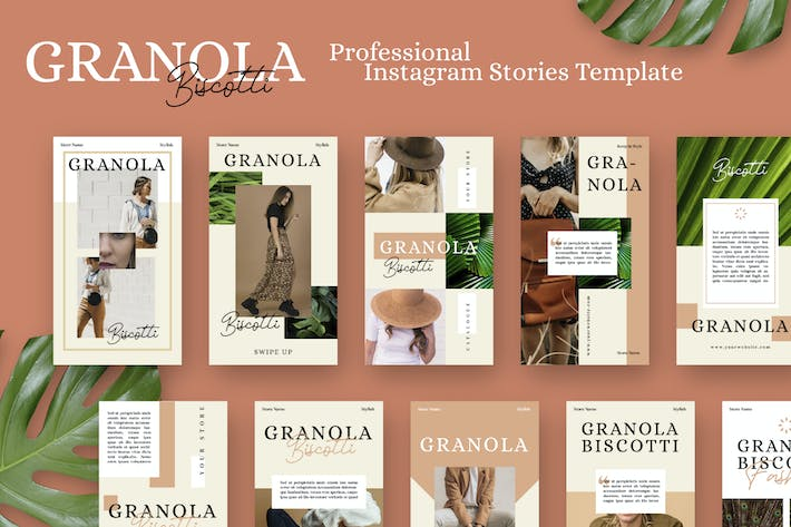 Thumbnail for Granola Biscotti Stories Template