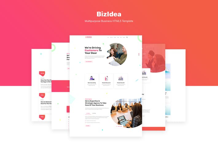 Thumbnail for Bizidea | Multipurpose Business Template