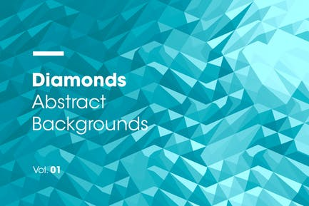 Diamonds   Abstract Backgrounds   Vol. 01