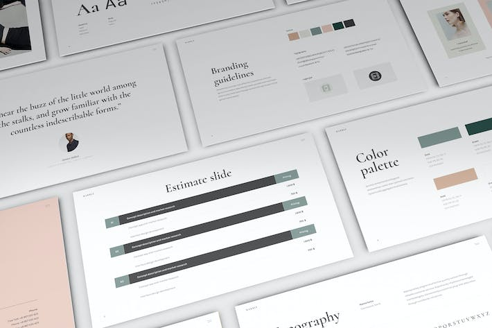 Thumbnail for Marble - Brand Guidelines Powerpoint Template