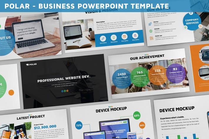 Thumbnail for Polar - Business Powerpoint Template