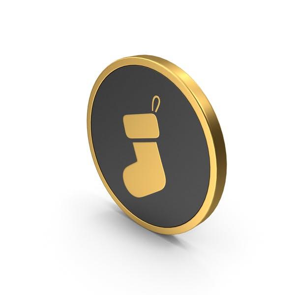 Gold Icon Christmas Sock