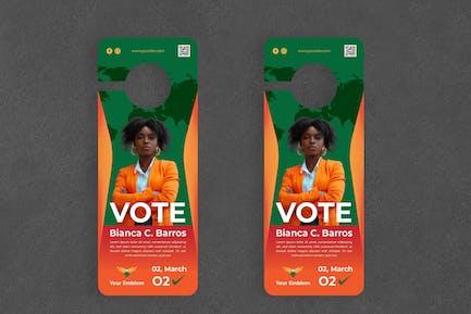 Vote Politician Door Hanger Creative Promotion