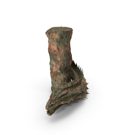 Schlangenkreatur Alte Bronze