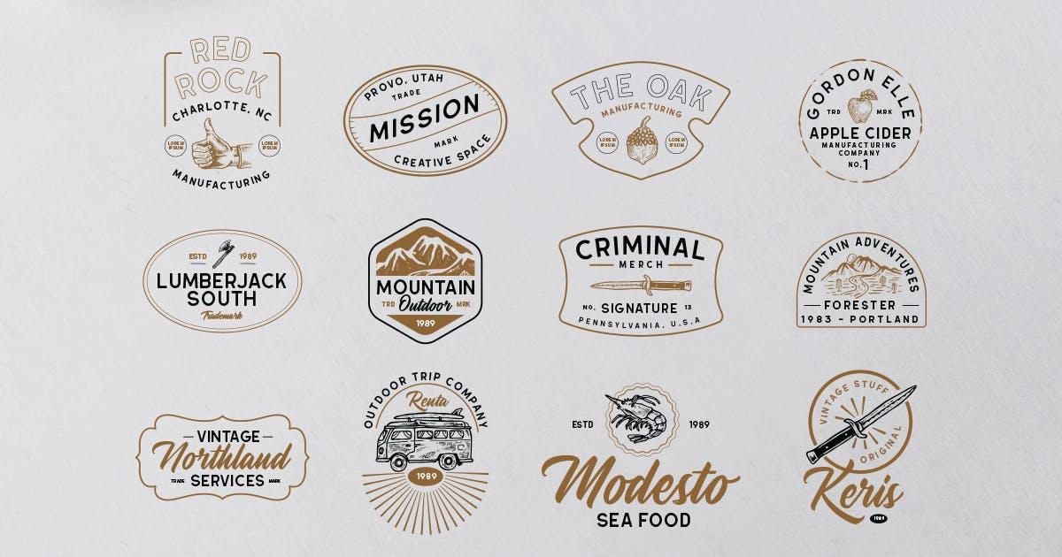 Download Modern Vintage Logopack 08 by letterhend