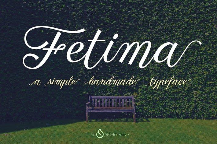 Thumbnail for Fetima Font Script