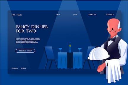 Fancy Dinner - Banner & Landing Page