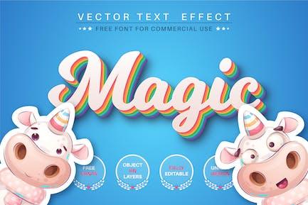 Magic unicorn - editable text effect, font style