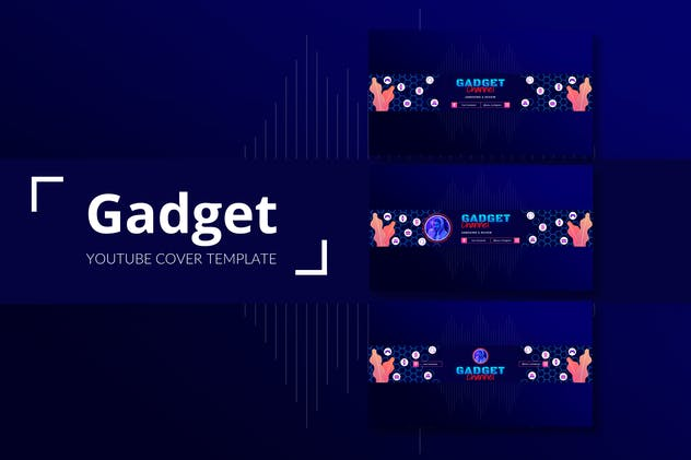 Gadget Channel – Youtube Cover Template Pack