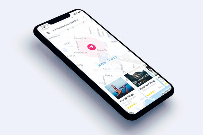 Thumbnail for Map search UI mobile for Travel app