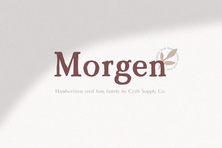 Thumbnail for Morgen - Handwritten Serif Font Family