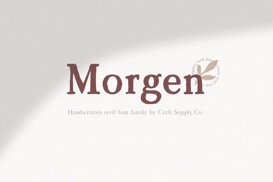Morgen - Handwritten Serif Font Family