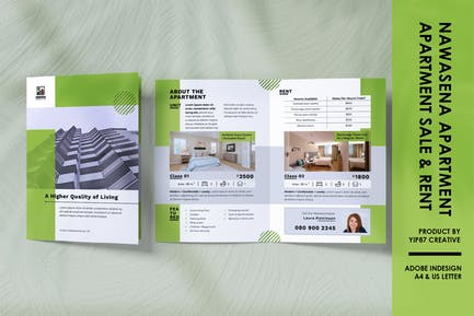 Apartment Property - Real Estate Bifold Brochure
