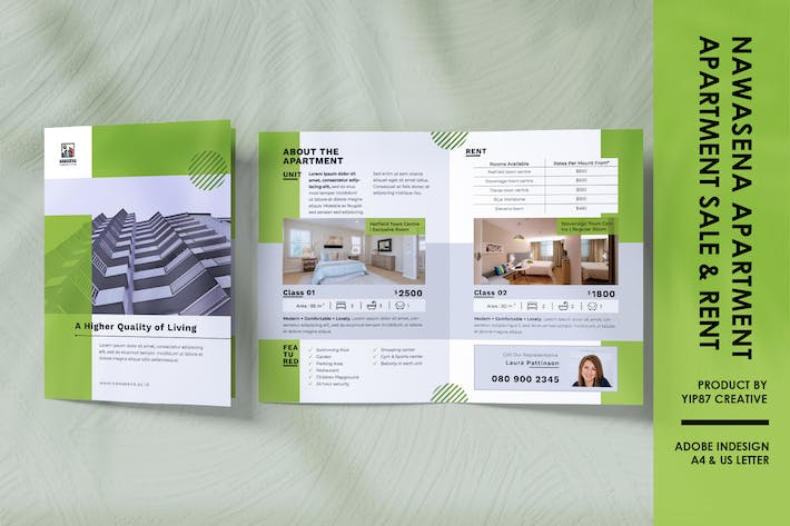 Thumbnail for Apartment Property - Real Estate Bifold Brochure