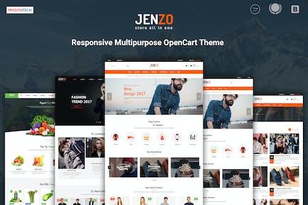 Jenzo - Drag & Caída Multifunción OpenCart 3 Tema