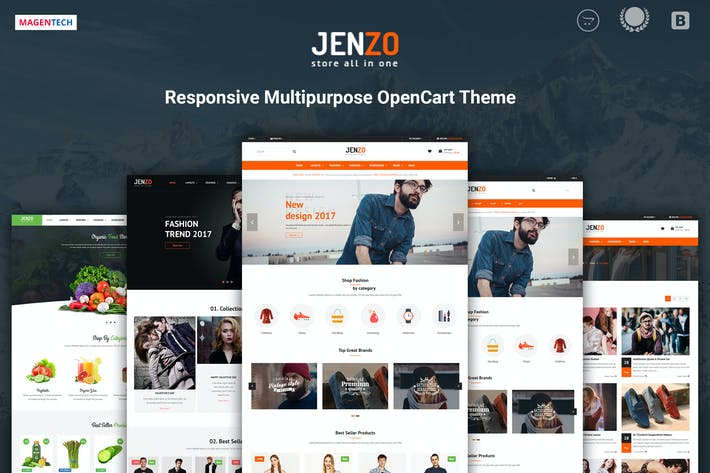 Thumbnail for Jenzo - Drag & Drop Multipurpose OpenCart 3 Theme