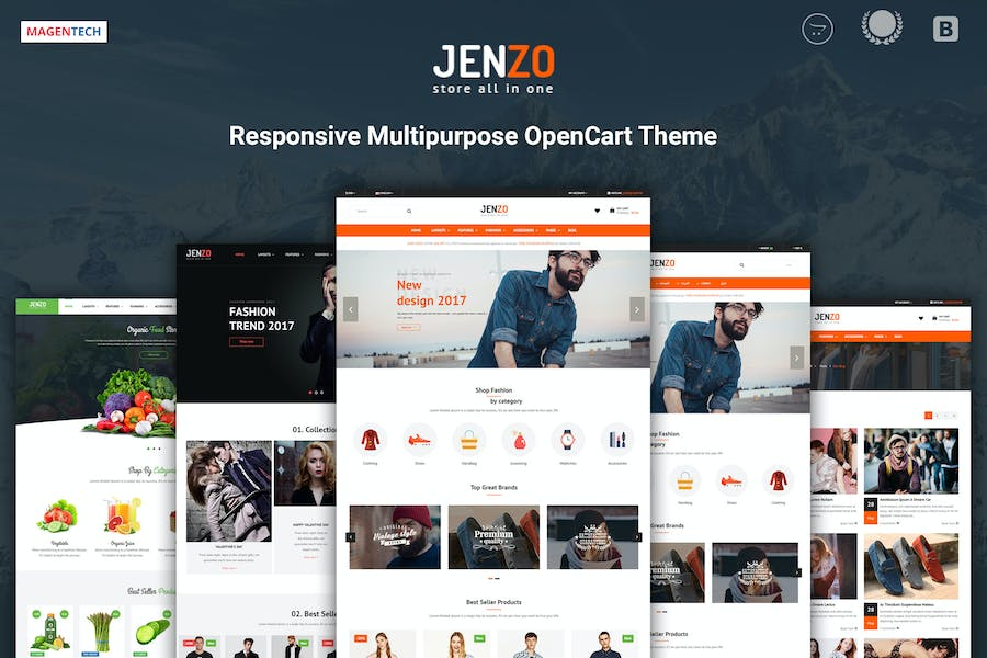 Jenzo - Drag & Drop Multipurpose OpenCart 3 Theme