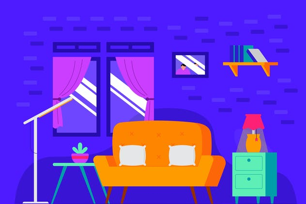 Living Room - Background Illustration