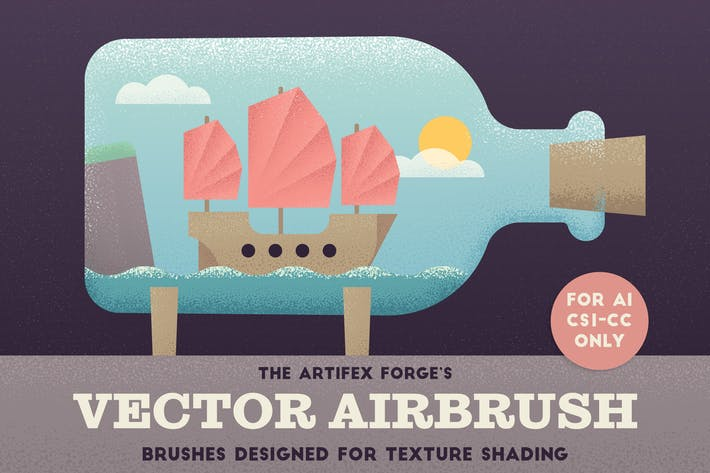 Cover Image For The Vector Airbrush - Shader Brushes